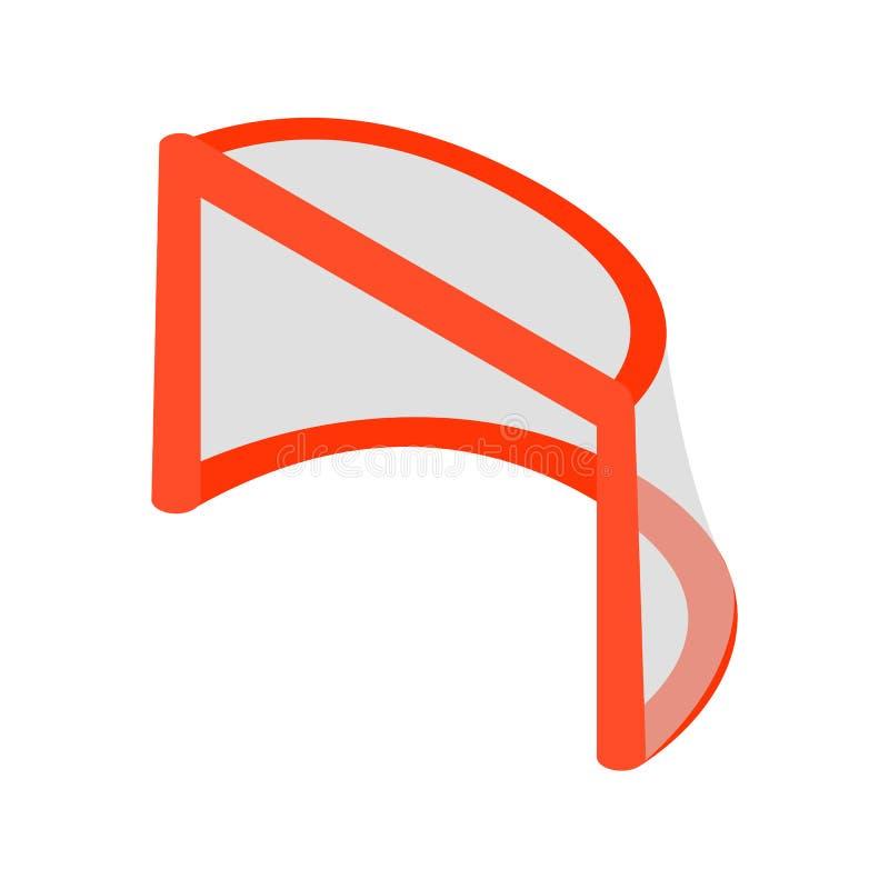 O hóquei bloqueia o ícone 3d isométrico ilustração do vetor