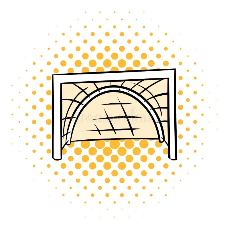 O hóquei bloqueia o ícone, estilo da banda desenhada ilustração do vetor