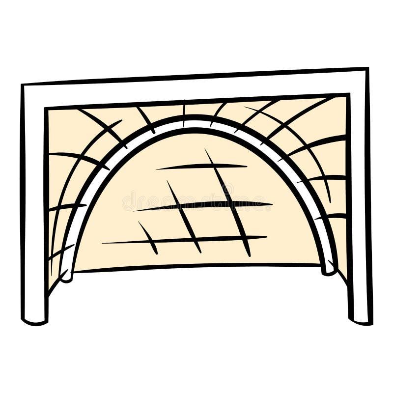 O hóquei bloqueia o ícone, desenhos animados do ícone ilustração do vetor