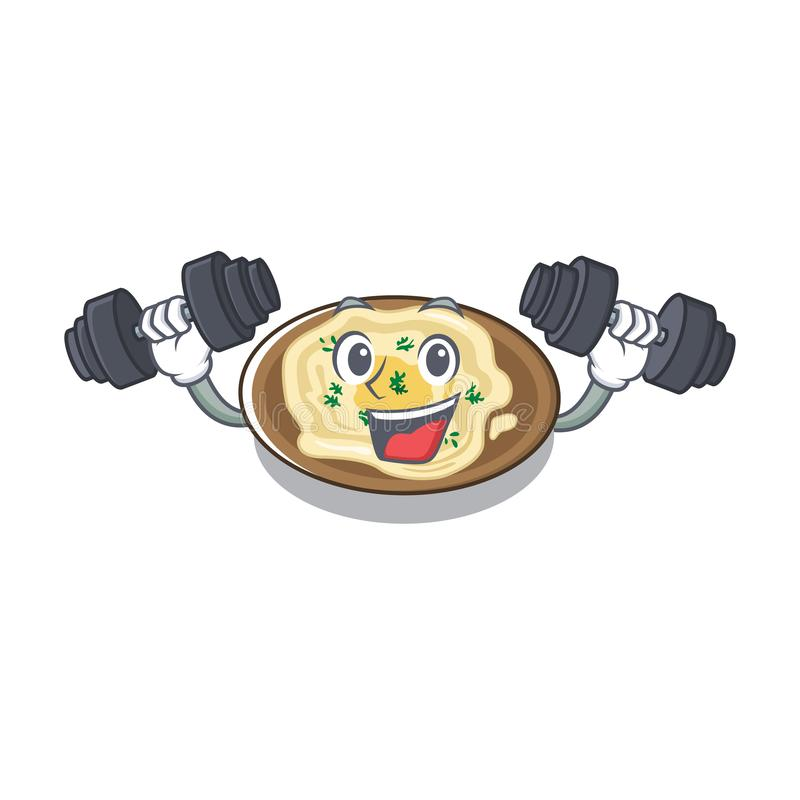 O húmus é cozido em mascote ilustração royalty free