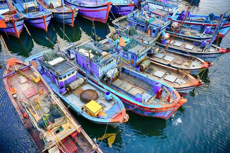 O habour na cidade do Da Nang imagem de stock