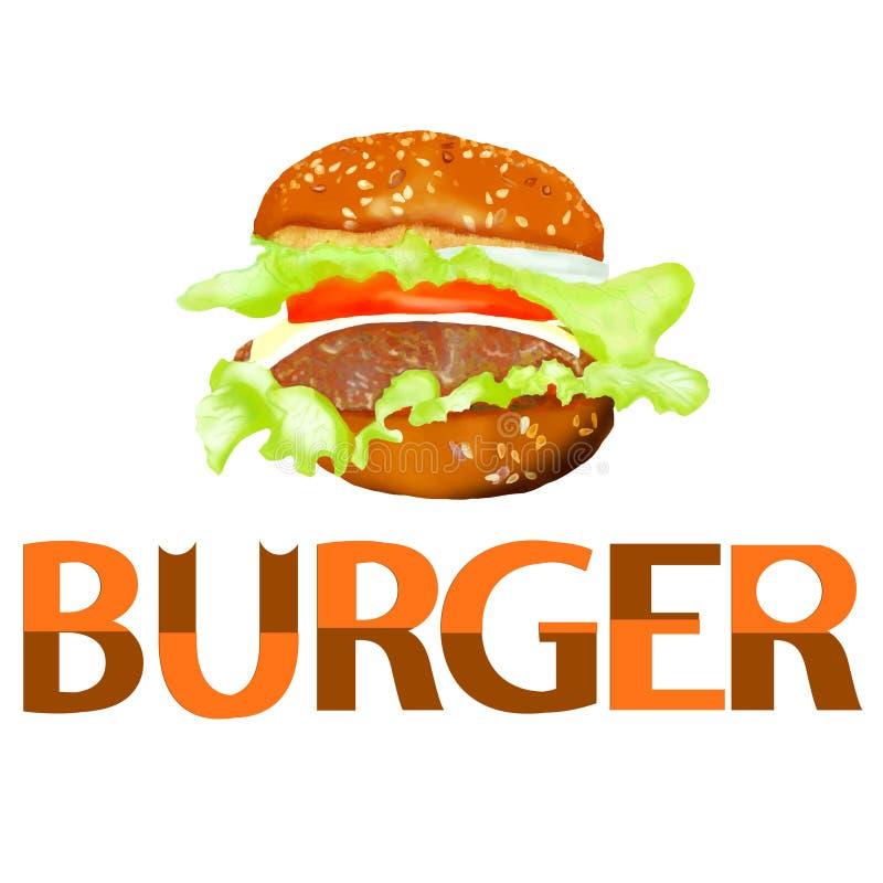 O Hamburger é delicioso ilustração do vetor