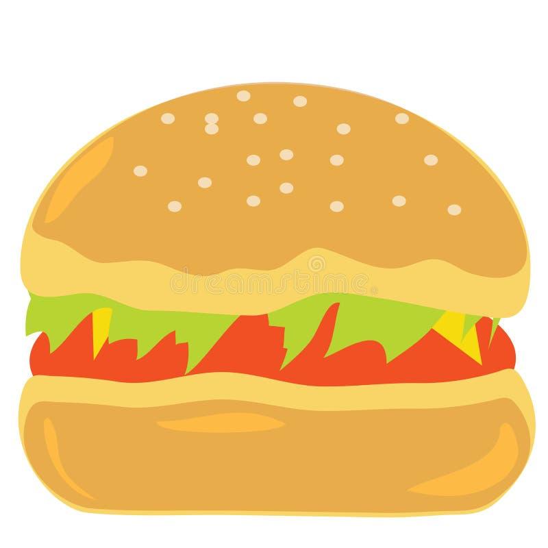 O hamburguer do fast food é saboroso ilustração stock