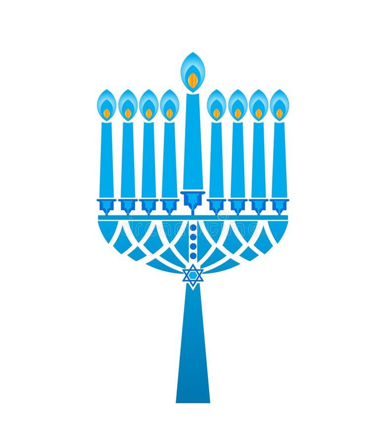 O Hanukkah candles a estrela de David ilustração stock