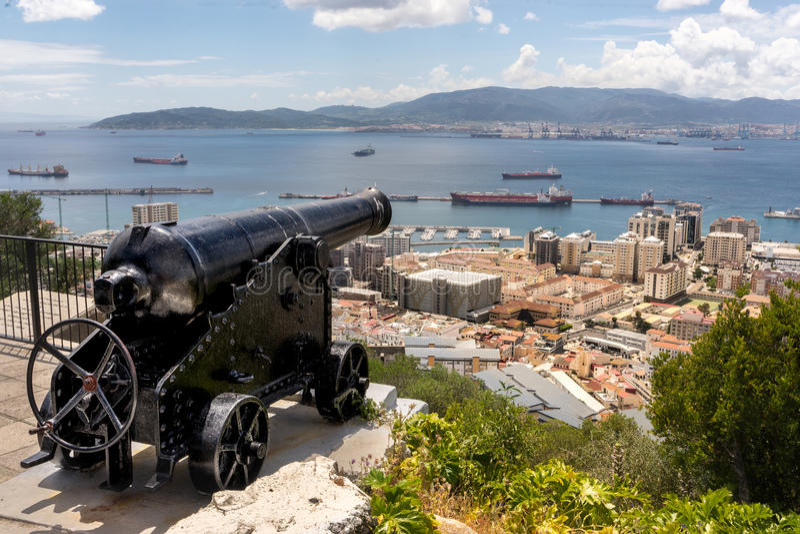 O ` hara ` s bateria, Gibraltar fotografia royalty free