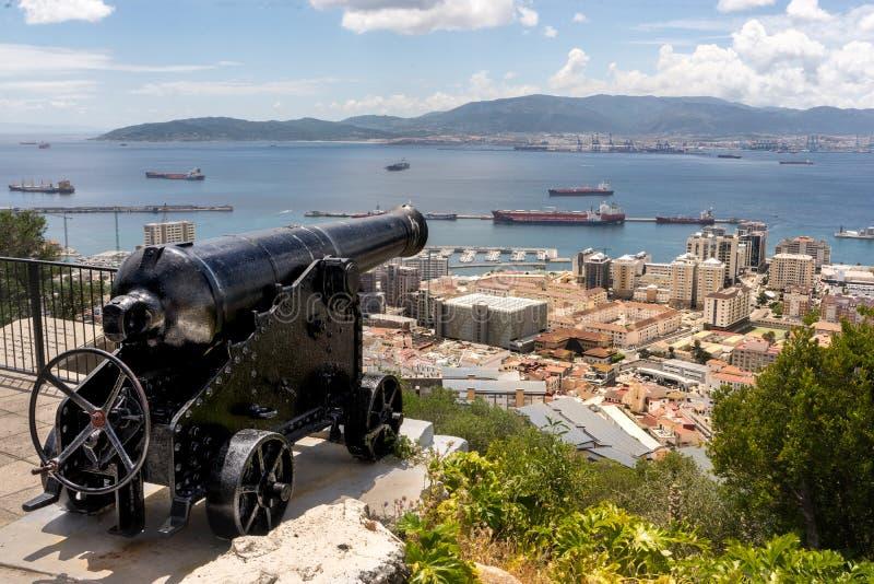 O ` hara` s Batterij, Gibraltar royalty-vrije stock fotografie
