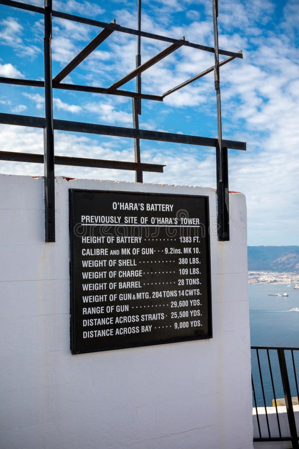 O`Hara`s Battery, on the Rock of Gibraltar stock photos