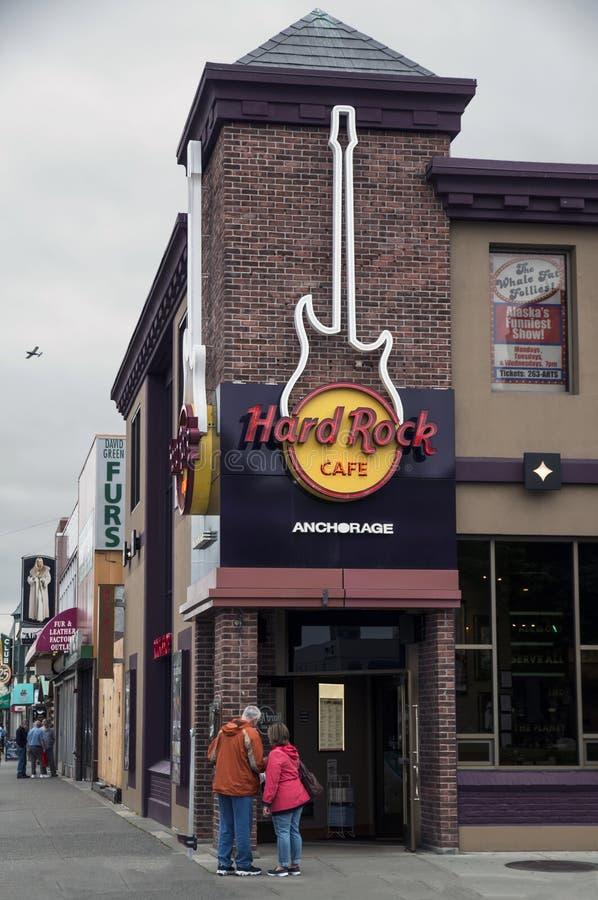 O Hard Rock Café Anchorage fotos de stock