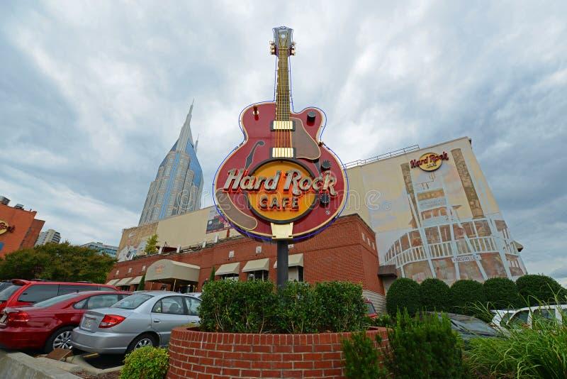 O Hard Rock Café em Broadway, Nashville, Tennessee foto de stock