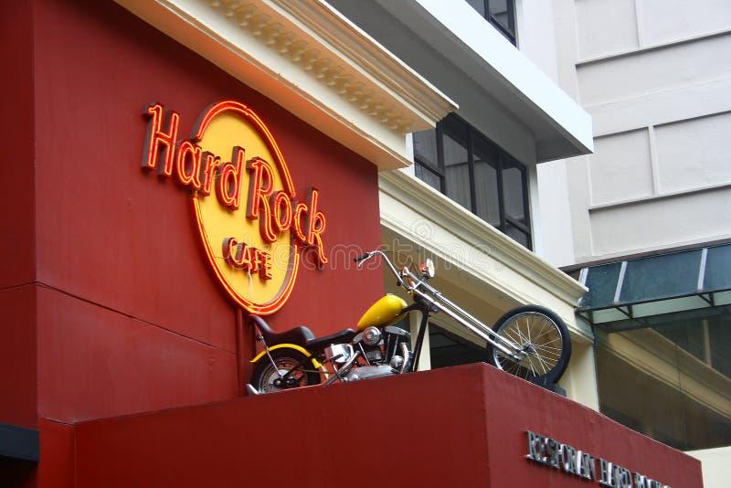 O Hard Rock Café Kuala Lumpur Malaysia imagens de stock