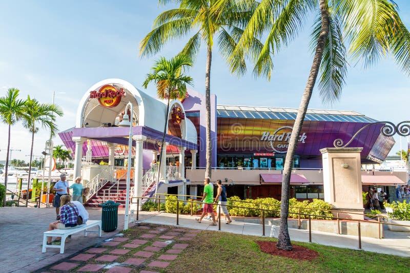 O Hard Rock Café o 7 de agosto de 2014 em Miami foto de stock
