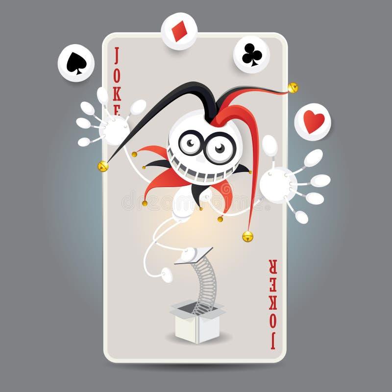 Cartão do Harlequin do palhaço ilustração royalty free