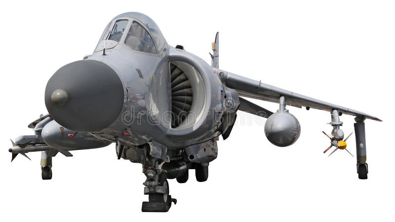 O Harrier do mar salta o jato - isolado no branco imagem de stock royalty free