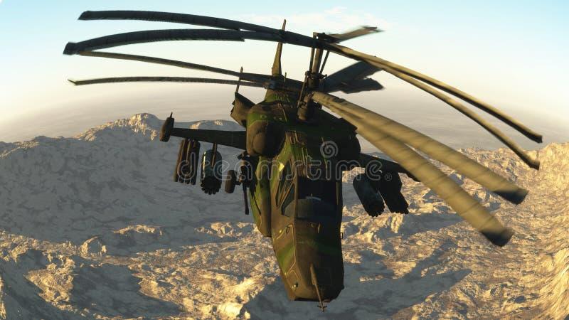 O helicóptero de combate do russo ilustração royalty free