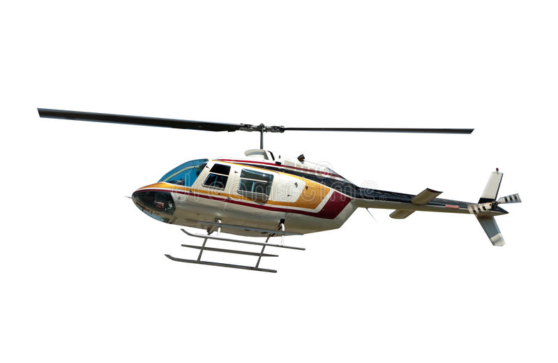 O helicóptero isolou-se imagem de stock royalty free