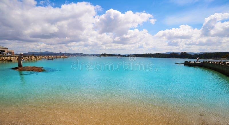 O het strand van Bosjeperalto in Pontevedra Galicië stock foto