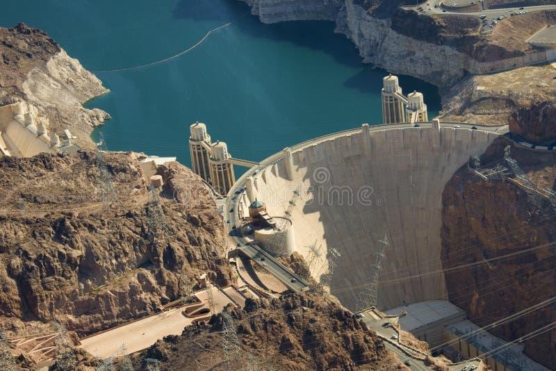 O hidromel da represa e do lago de Hoover foto de stock royalty free