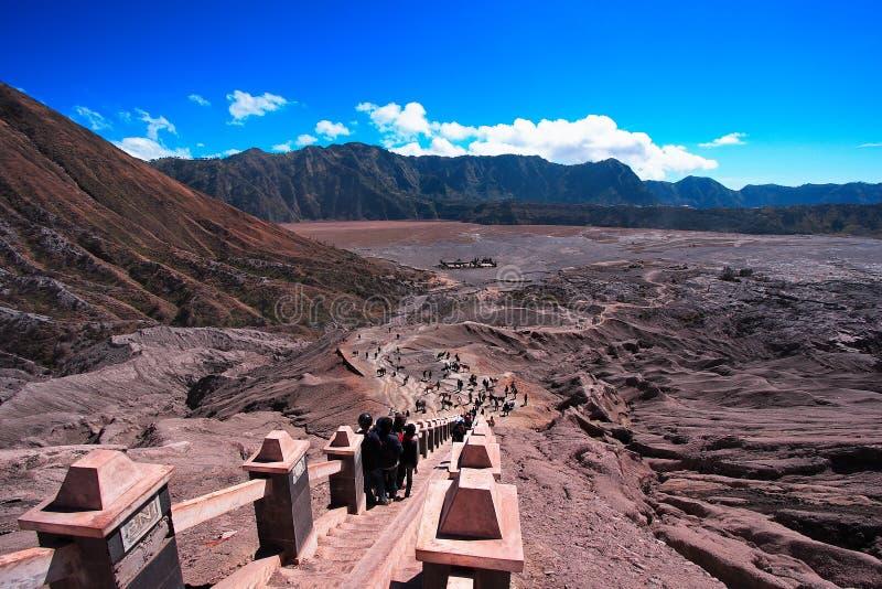 O Hight do vulcão Bromo fotografia de stock royalty free