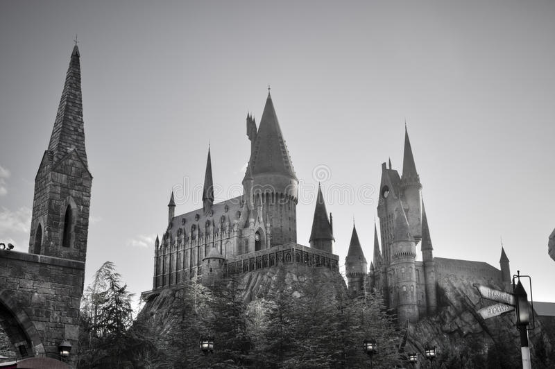O Hogwarts de Harry Potter foto de stock royalty free