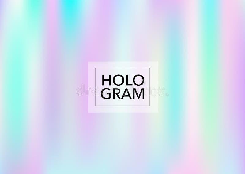 O holograma mágico ilumina o fundo do vetor Folha de prova Pearlescent macia na moda macia do arco-íris Princesa holográfica do a ilustração do vetor