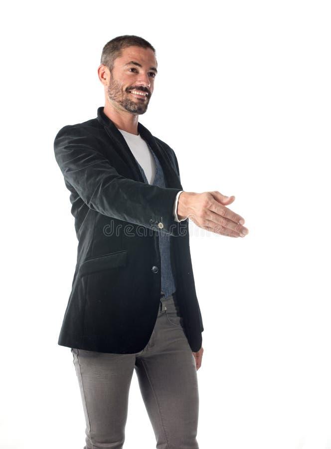 O homem agita as mãos foto de stock royalty free