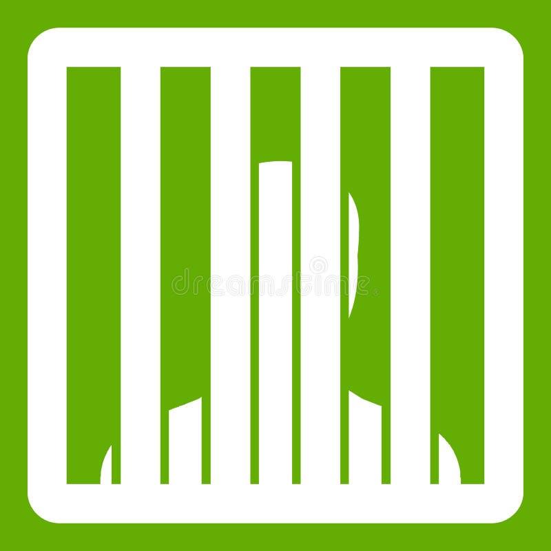 O homem atrás da cadeia barra o verde do ícone ilustração do vetor