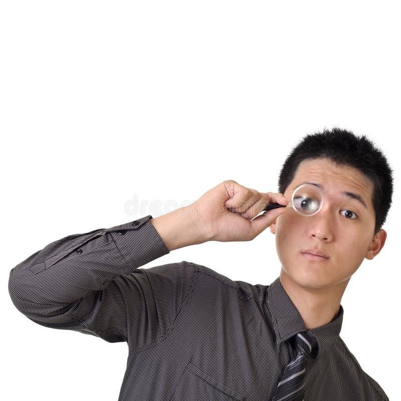 O homem de negócio descobre fotos de stock