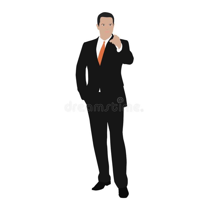 O homem de negócio do vetor indica ilustração royalty free