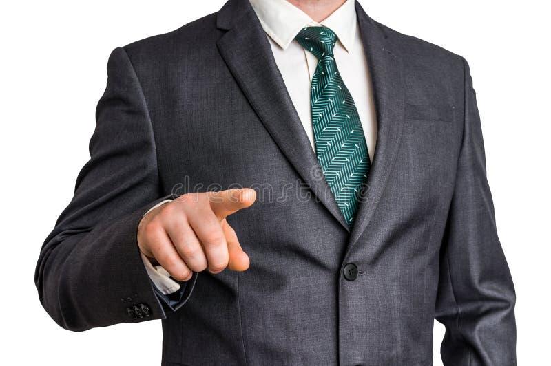 O homem de negócio está apontando seu dedo em você fotos de stock