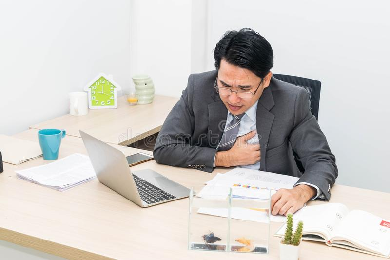 O homem de negócios é doente imagem de stock royalty free