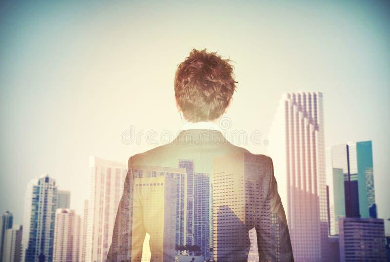 O homem de negócios aspira ao sucesso foto de stock royalty free