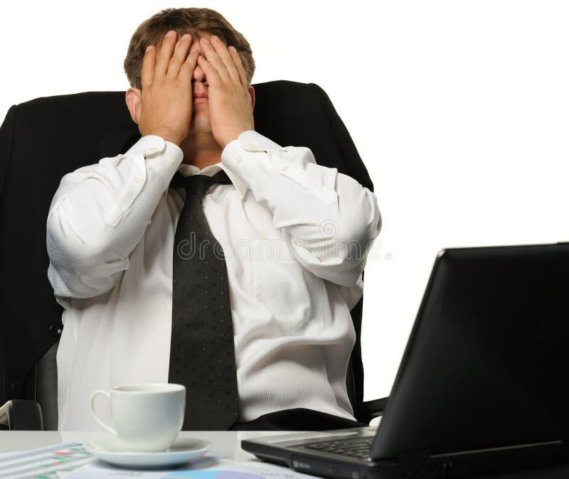 O homem de negócios - bankrupt imagem de stock royalty free