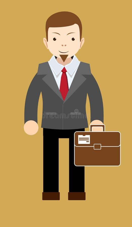 O homem de negócios bem sucedido mostra que tudo é APROVADO ilustração stock
