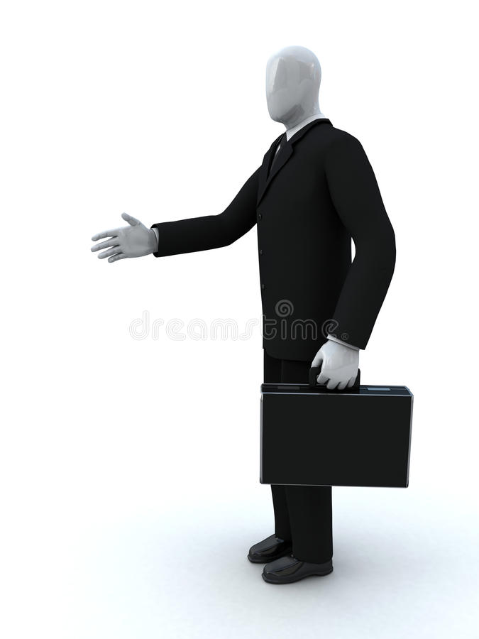 O homem de negócios dá uma mão imagens de stock