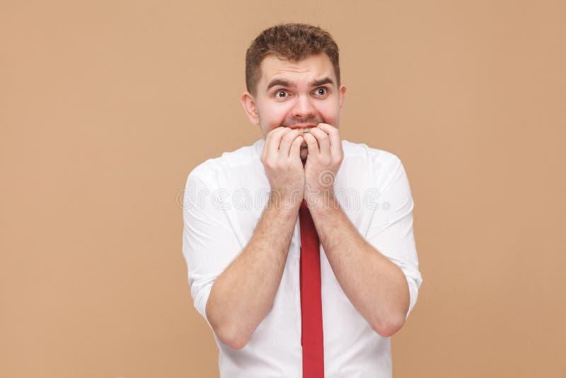 O homem de negócios da tristeza tem um problema fotografia de stock