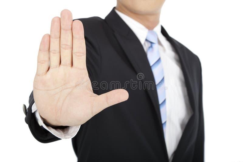 O homem de negócios diz o No. imagens de stock