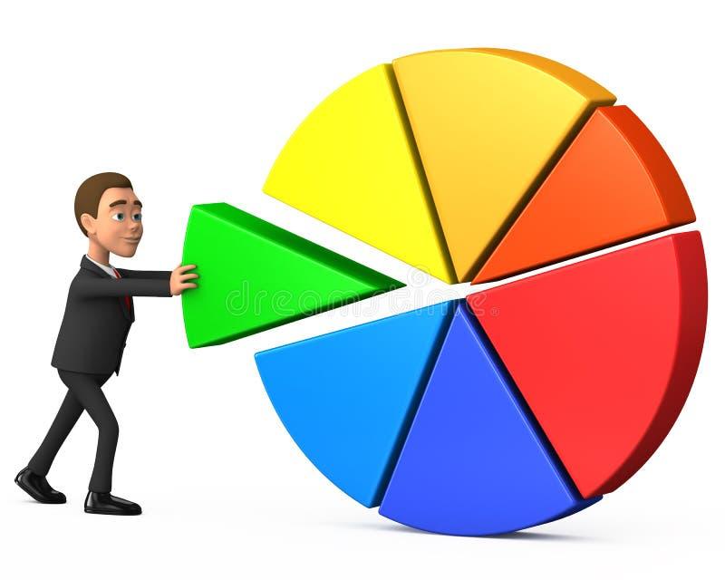 O homem de negócios faz uma contribuição para a causa comum ilustração stock