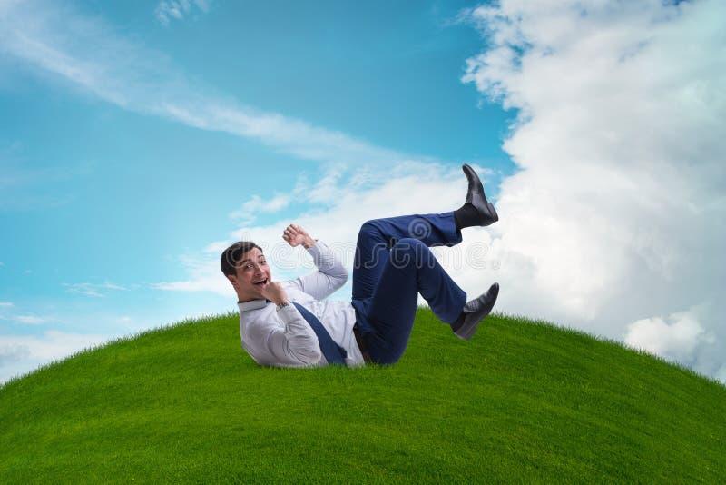 O homem de negócios feliz é entusiasmado da oportunidade de negócio nova imagens de stock royalty free