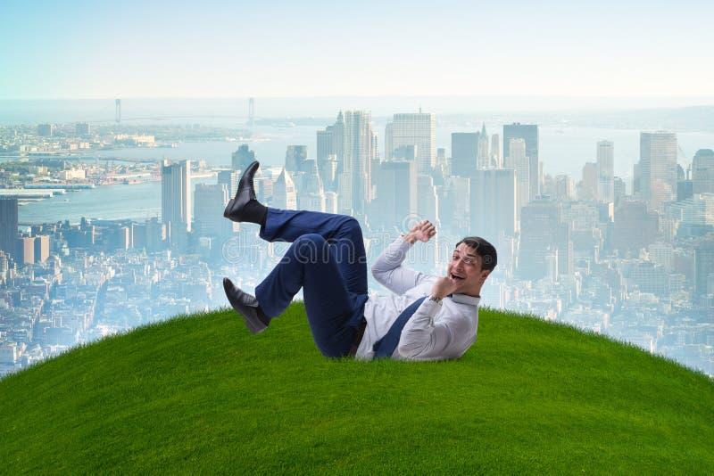 O homem de negócios feliz é entusiasmado da oportunidade de negócio nova foto de stock royalty free