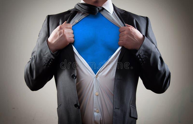 Conceito para o herói do homem de negócios fotografia de stock