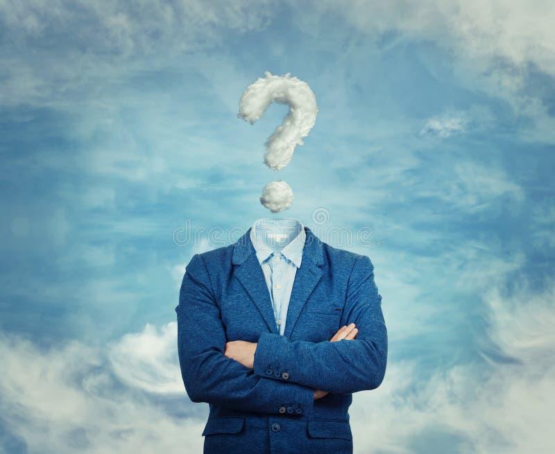 O homem de negócios invisível imagens de stock