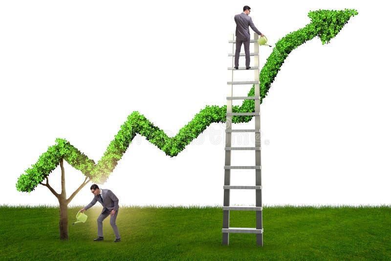 O homem de negócios no negócio ecológico responsável ilustração royalty free
