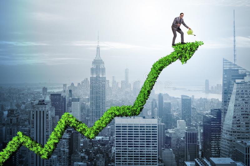 O homem de negócios no negócio ecológico responsável ilustração do vetor