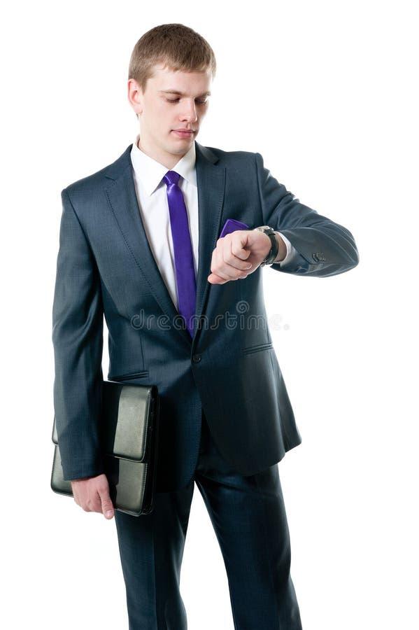 O homem de negócios novo foto de stock