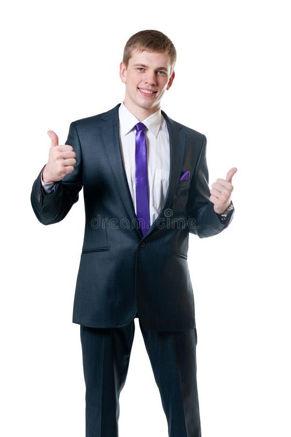 O homem de negócios novo em um terno fotos de stock royalty free