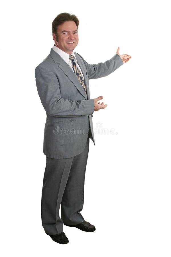 O homem de negócios ou o corretor de imóveis terminam 3 foto de stock royalty free