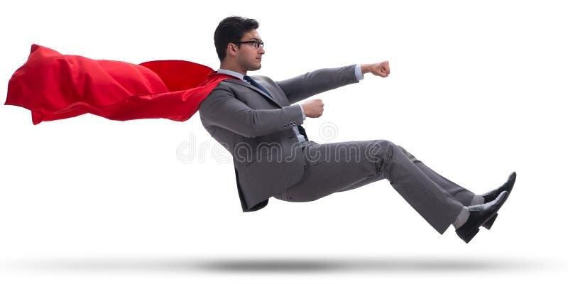 O homem de negócios que conduz o carro virtual no conceito engraçado fotos de stock