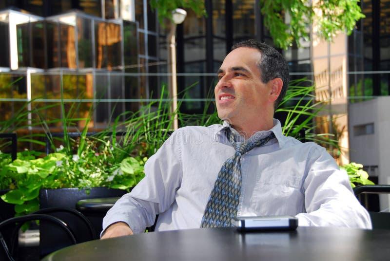 O homem de negócios relaxa fotografia de stock royalty free