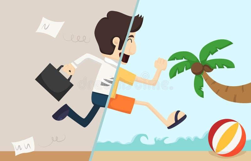 O homem de negócios relaxa ilustração stock