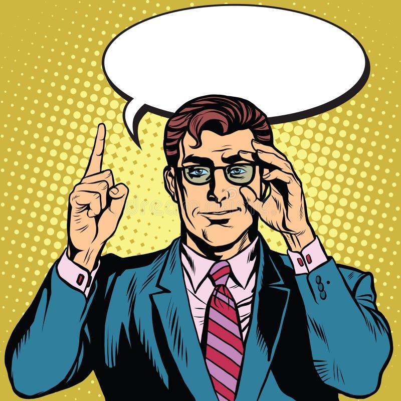 O homem de negócios retro diz ilustração do vetor